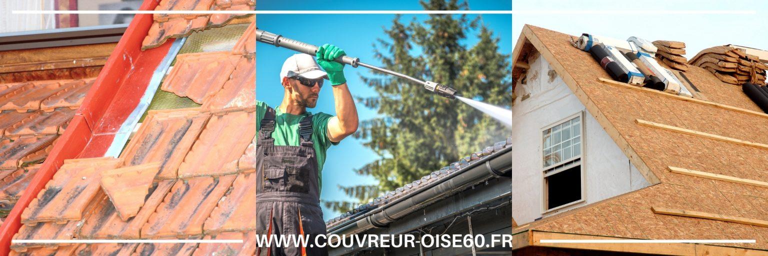 nettoyage et demoussage toiture Chantilly 60500 Oise