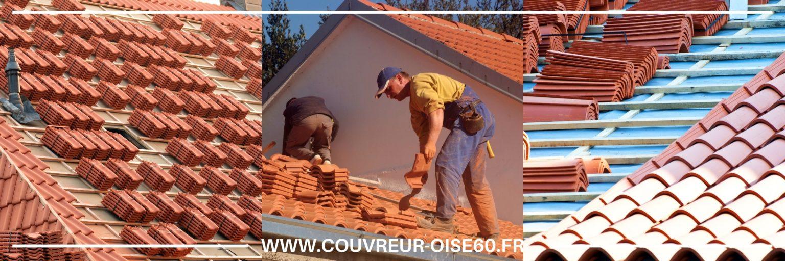 pose et remplacement tuiles Montataire ardoise zinc ou chaume toiture